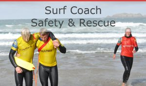 SLSGB Surf Coach Safety & Rescue Ripstar is vol @ Zandvoort, Nederland